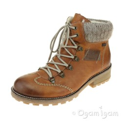 Rieker Z044424 Womens Tan Waterproof Boot