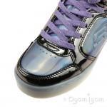 Skechers EnergyLights ShinyBrights Girls Gunmental-Purple Trainer