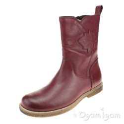 Froddo G3160086 Girls Bordeaux Red Boot