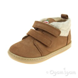 Shoo Pom Bouba Scratch Wool Infant Boys Camel-Ecru Boot