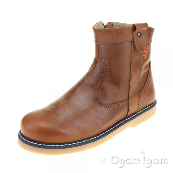 Petasil Shirley Girls Brown Boot