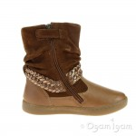 Shoo Pom Play Freeze Girls Nuts-Dore Brown Warm-lined Boot