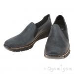 Rieker 5376617 Womens Blue Slip on Shoe