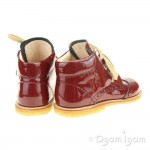 Angulus Girls Dark Red Lace up Boot