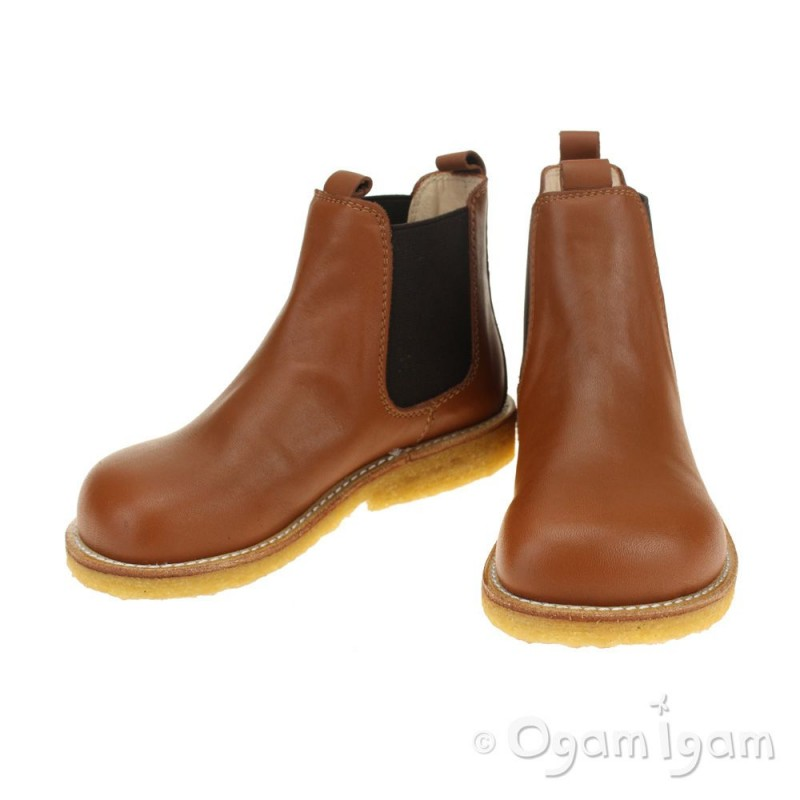 fa0ba909c54598 Angulus Chelsea Boys Girls Cognac Boot Angulus Chelsea Boys Girls Cognac  Boot ...