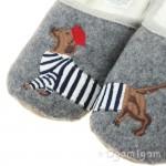 Joules Slippet Dog Girls Grey Dog Slipper