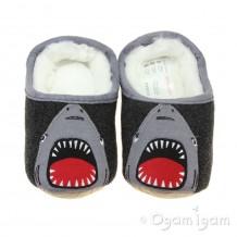Joules Slippet Shark Boys Grey Slipper