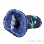 Joules Padabout Dino Boys French Navy Dinosaur Slipper
