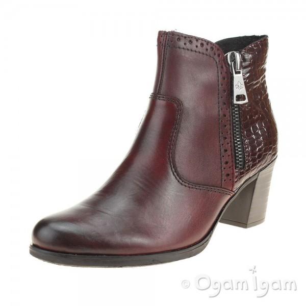 Rieker Y896535 Womens Wine Ankle Boot