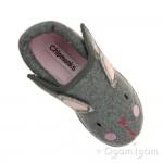 Chipmunks Katie Girls Grey Slipper