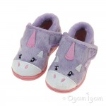 Chipmunks Unicorn Girls Lavendar Slipper