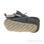 Chipmunks Lottie Girls Grey Slipper