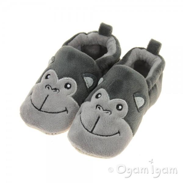 Chipmunks Fizz Boys Dark grey Slipper