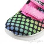 Skechers Skech-Lite Lil Dots Infant Girls Black-Pink Trainer