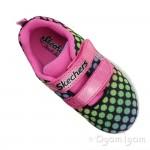 Skechers Skech-Lite Lil Dots Girls Black-Pink Trainer