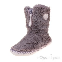 Bedroom Athletics Monroe Womens Aquarelle-Dusty Pink Boot Slipper