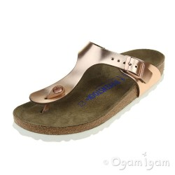 Birkenstock Gizeh Womens Metallic Copper Sandal
