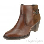 Rieker 5529224 Womens Brown Ankle Boot