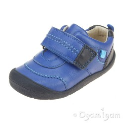 Start-rite First Zak Boys Bright Blue Shoe