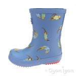 Joules Blue Otter Boys Blue Welly Boot