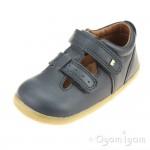 Bobux Jack and Jill Infants Navy Shoe