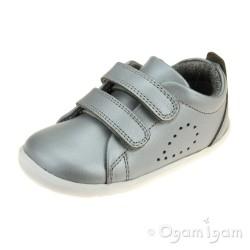 Bobux Grass Court Infant Girls Silver Shoe