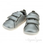 Bobux Grass Court Infant Girls Silver Shoe