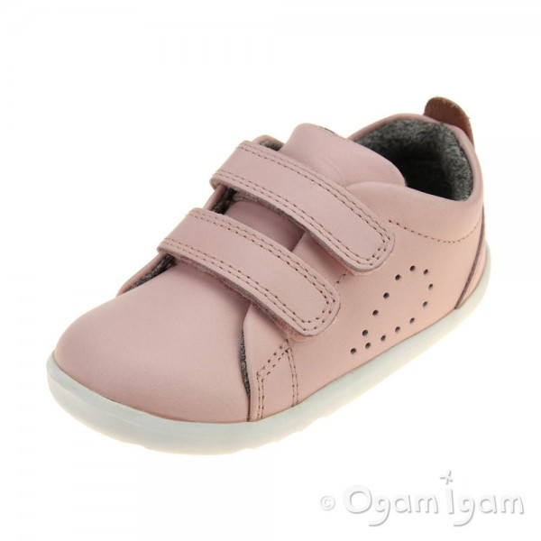 Bobux Grass Court Infant Girls Seashell Pink Shoe