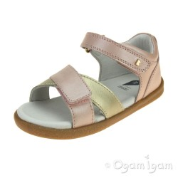 Bobux Sail Girls Blush-Gold Sandal