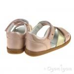 Bobux Sail Girls Blush-Gold Sandal