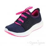 Skechers Skyline Girls Navy-Hot Pink Trainer
