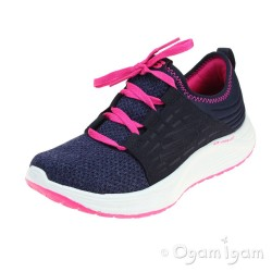 Skechers Skyline Girls Navy-Hot Pink Trainer