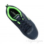 Skechers Dyna-Lite Boys Navy-Lime Trainer