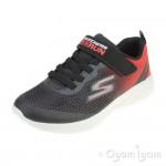 Skechers GoRun 600 Farrox Senior Boys Black-Red Trainer