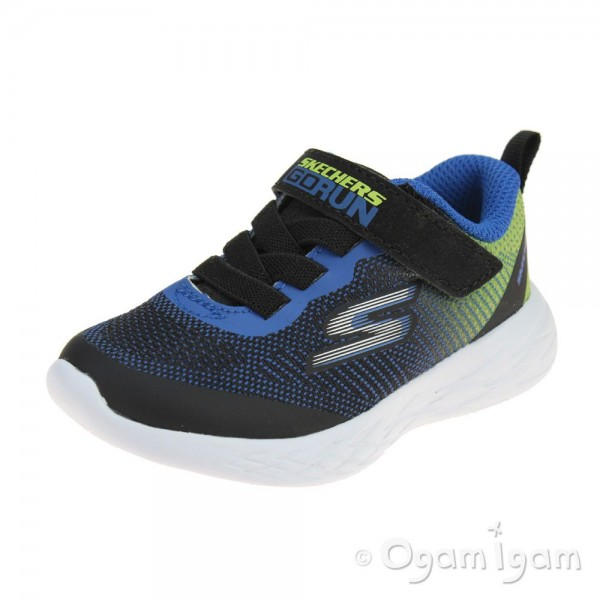 Skechers GoRun 600 Farrox Infant Boys Black-Lime Trainer