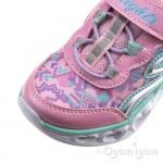 Skechers S Lights Heart Lights Girls Light Pink-Multi Trainer