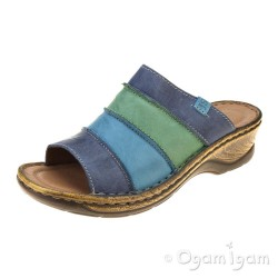 Josef Seibel Catalonia 64 Womens Dark Blue Multi Sandal