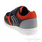 Geox Xunday Boys Navy-Orange Shoe