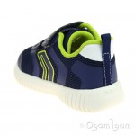 Geox Waviness Boys Navy-Lime Shoe