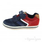 Geox Vita Boys Red-Navy Shoe
