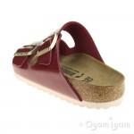 Birkenstock Arizona Patent Bordeaux Womens Red Sandal