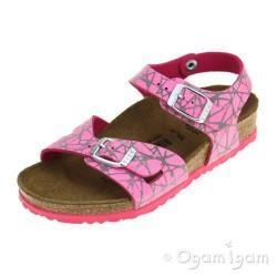 Birkenstock Rio Kids Lines Girls Pink Sandal