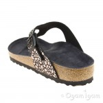 Birkenstock Gizeh Metallic Stones Womens Black Sandal