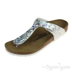 Birkenstock Gizeh Kids Hologram Silver Girls Sandal