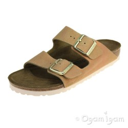 Birkenstock Arizona Washed Metallic Womens Copper Sandal
