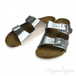 Birkenstock Arizona Kids Girls Silver Sandal