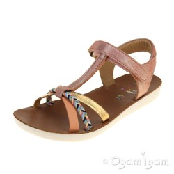 Shoo Pom Goa Salome Girls Clem-Gold Sandal