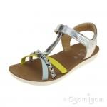 Shoo Pom Goa Salome Girls Silver Sky Lemon Sandal