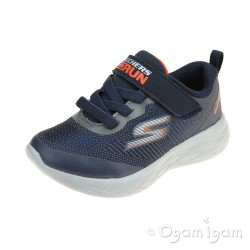 Skechers GoRun 600 Farrox Boys Navy-Charcoal Trainer