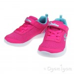 Skechers SkechStepz Sparkle Girls Hot Pink-Turquoise Trainer